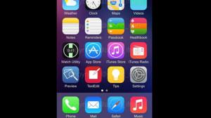 Рабочий стол iOS 8