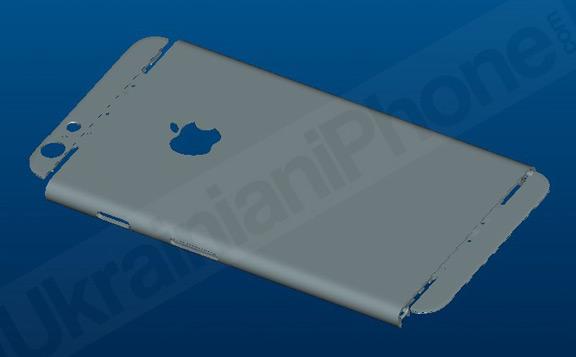 Макет iPhone 6 вид сзади