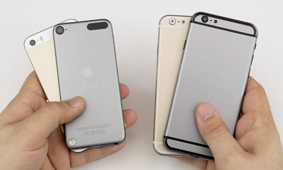 Фото iPhone 6 с iPod Touch и iPhone 5S