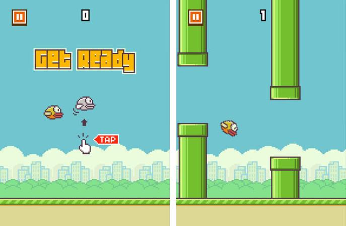 обзор flappy bird геймплей
