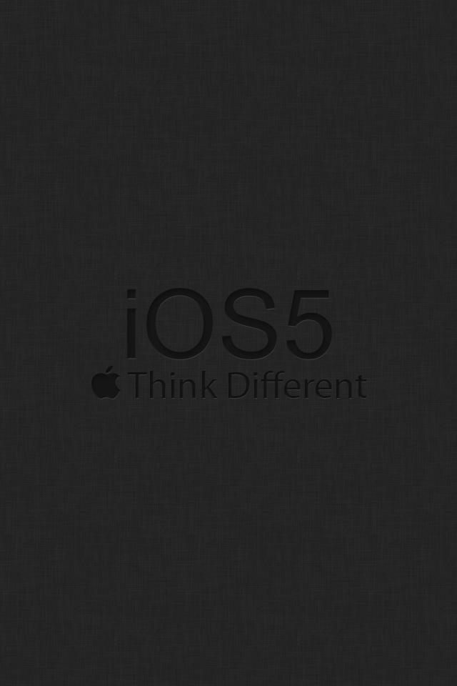 Серые обои на iPhone с логотипом iOS 5