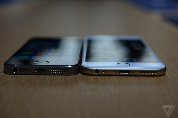 Фото iPhone 6 в сравнении с iPhone 5S