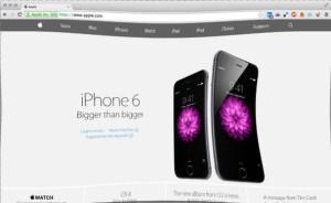 Сайт Apple в стиле iPhone 6