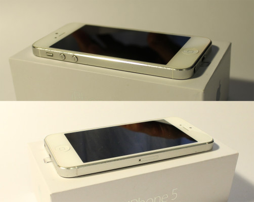 Фото iPhone 5 слева и справа