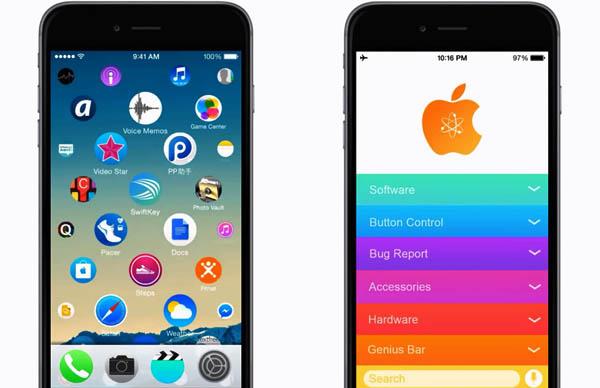 Новый интерфейс на айфоне, как на apple watch