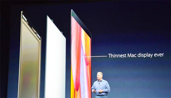 Тоньше дисплей у macbook