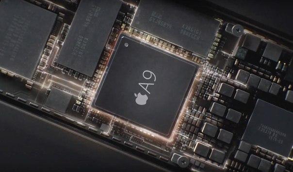 Процессор А9 и сопроцессор М9 в iPhone 6S