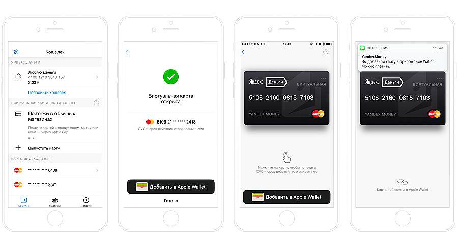 Яндекс.Деньги Apple Pay в Украине
