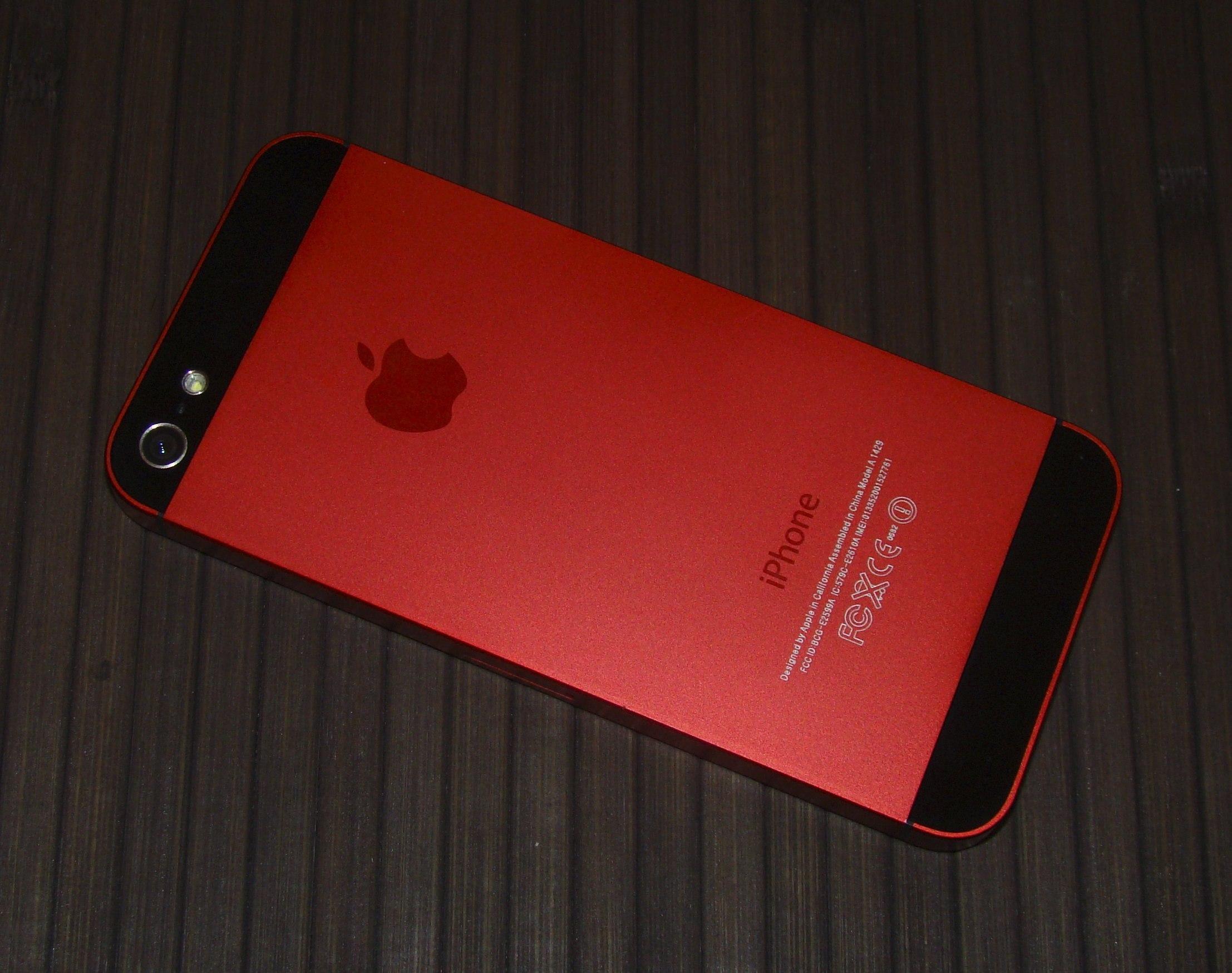 айфон красного цвета фото стрижка половина